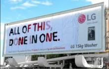 LG y su gran billboard realizado con 71 piezas de ropa