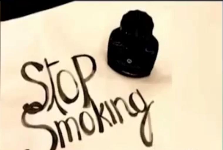 Crean tinta con humo almacenado en pulmones para crear conciencia vs tabaquismo