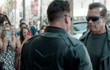 Terminator sale a las calles de Hollywood a promocionar su película