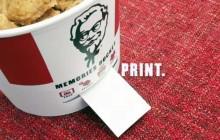 ¡El nuevo packaging de KFC es capaz de imprimir fotografías!