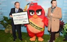 Red de The Angry Birds Movie, embajador de campaña Green de la ONU