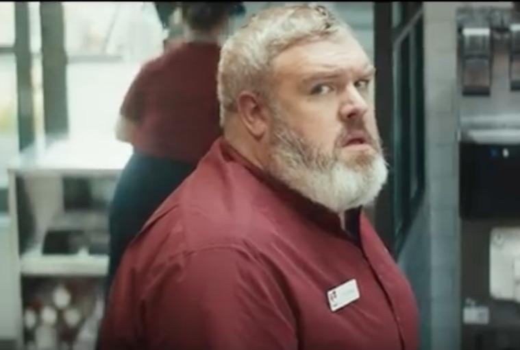 """Hodor vendiendo en KFC """"Lunchtime is coming"""""""