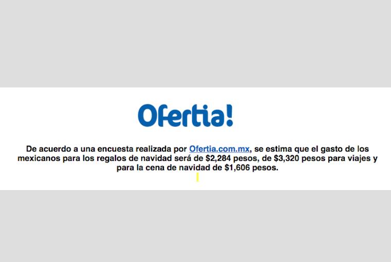 Los mexicanos gastarán más en la cena de fin de año que en la de navidad, estudio de Ofertia