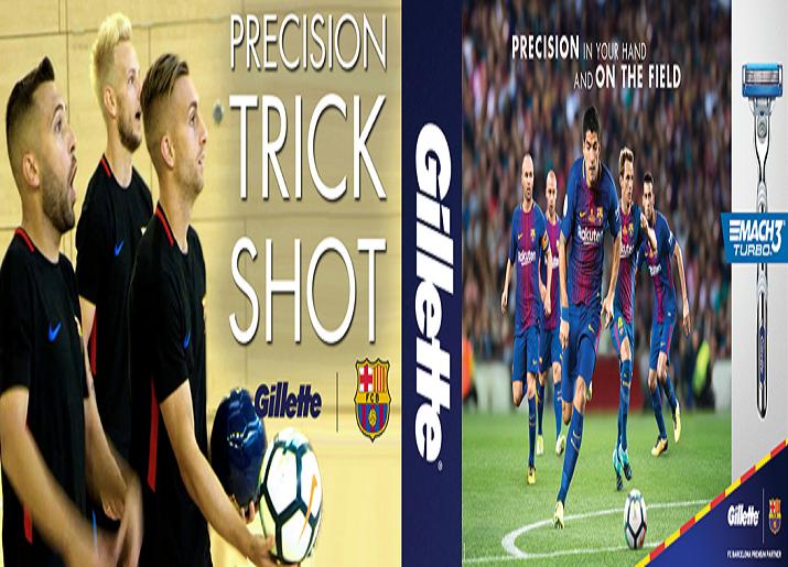 Gillette juega basquet con estrellas del FC Barcelona