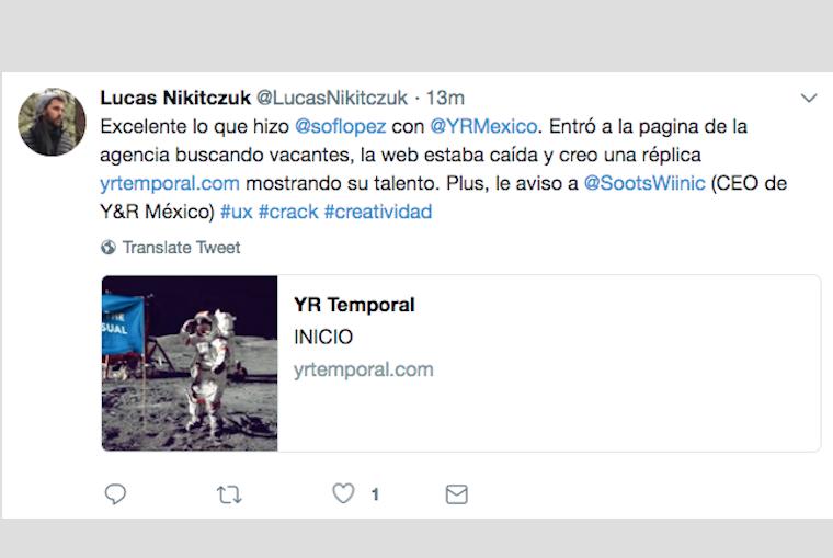 Sofía López en Y&R México