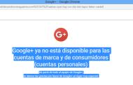 Google cierra red social Google+ para consumidores